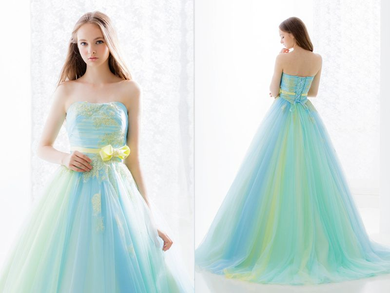 27 Princess-Worthy Wedding Dresses Featuring Pastel Color ...