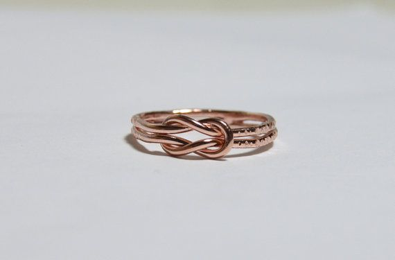Infinity Rose Gold Ring Rose Gold Infinity Knot Ring Symbol