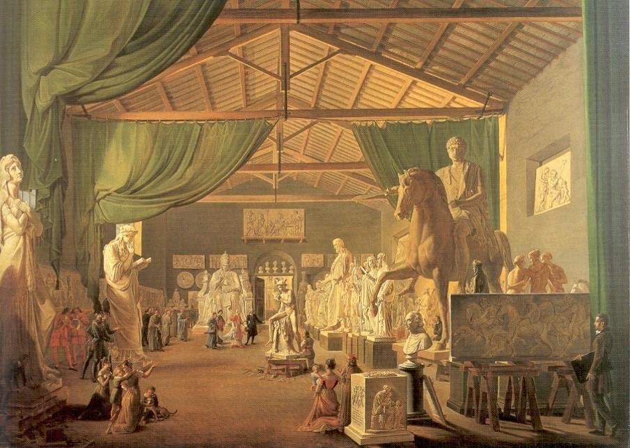 Martens, Pope Leo VII Visiting Thorvaldsen's Studio on St. Luke's Day, 1830