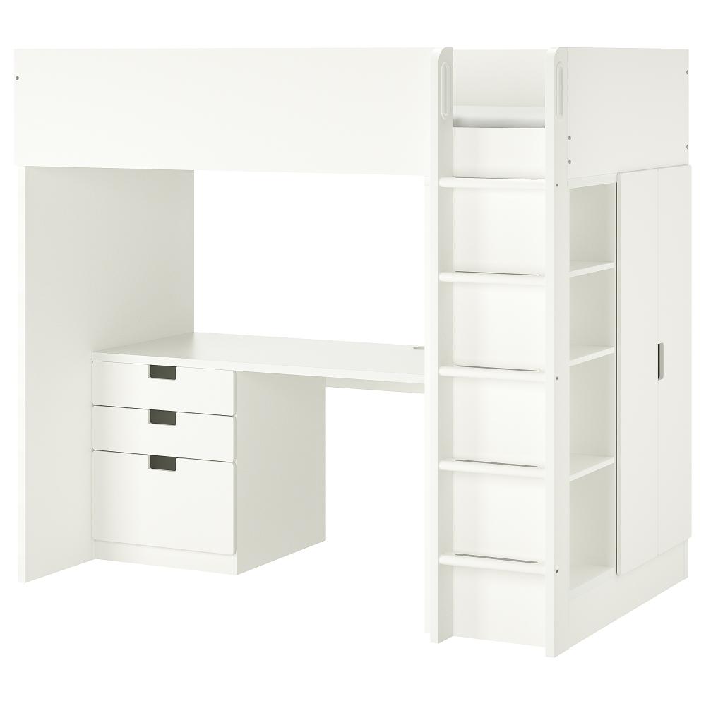 Letti A Castello 3 Posti Ikea.Stuva Stuva Malad Loft Bed Combo W 3 Drawers 2 Doors White