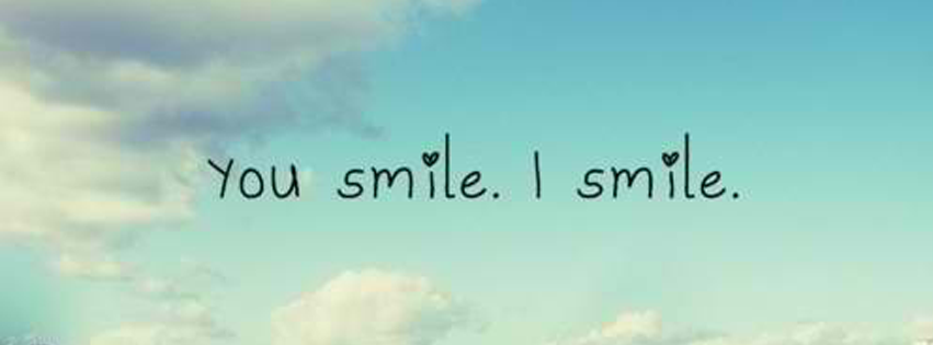 You Smile, I Smile Facebook Cover JUSTBESTCOVERS Cover