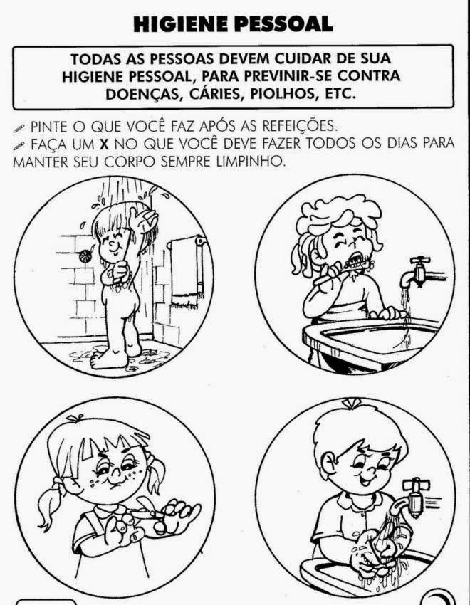 Atividades Sobre Higiene Para Educacao Infantil Atividades De