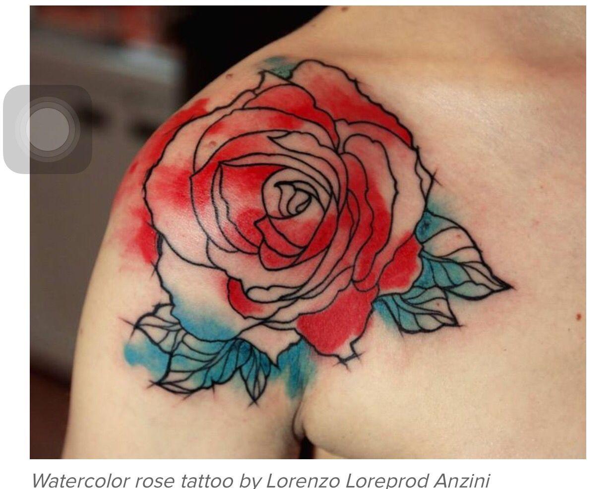 Water color Watercolor rose tattoos, Tattoos, Rose tattoos