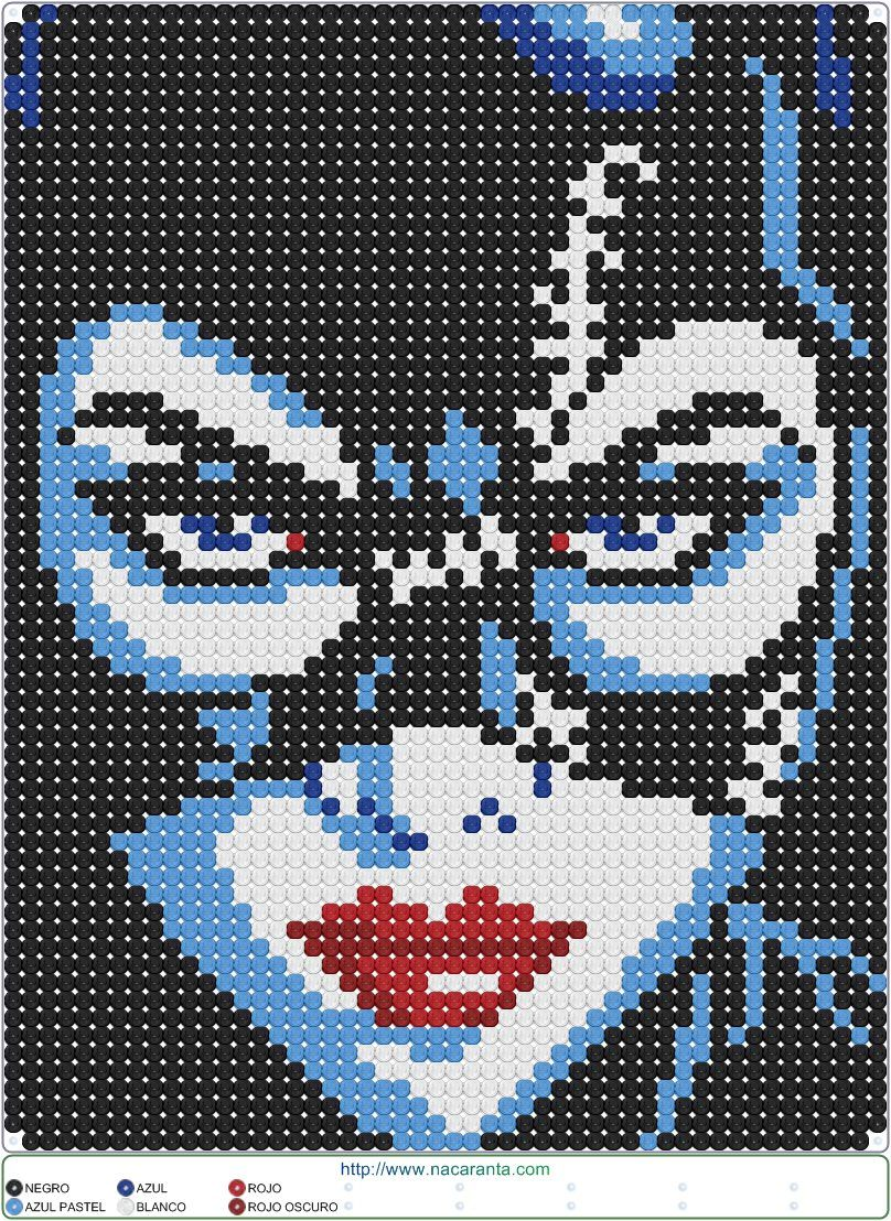 Catwoman en CUENTAS HAMA BEADS, Perler Bead Patterns ...