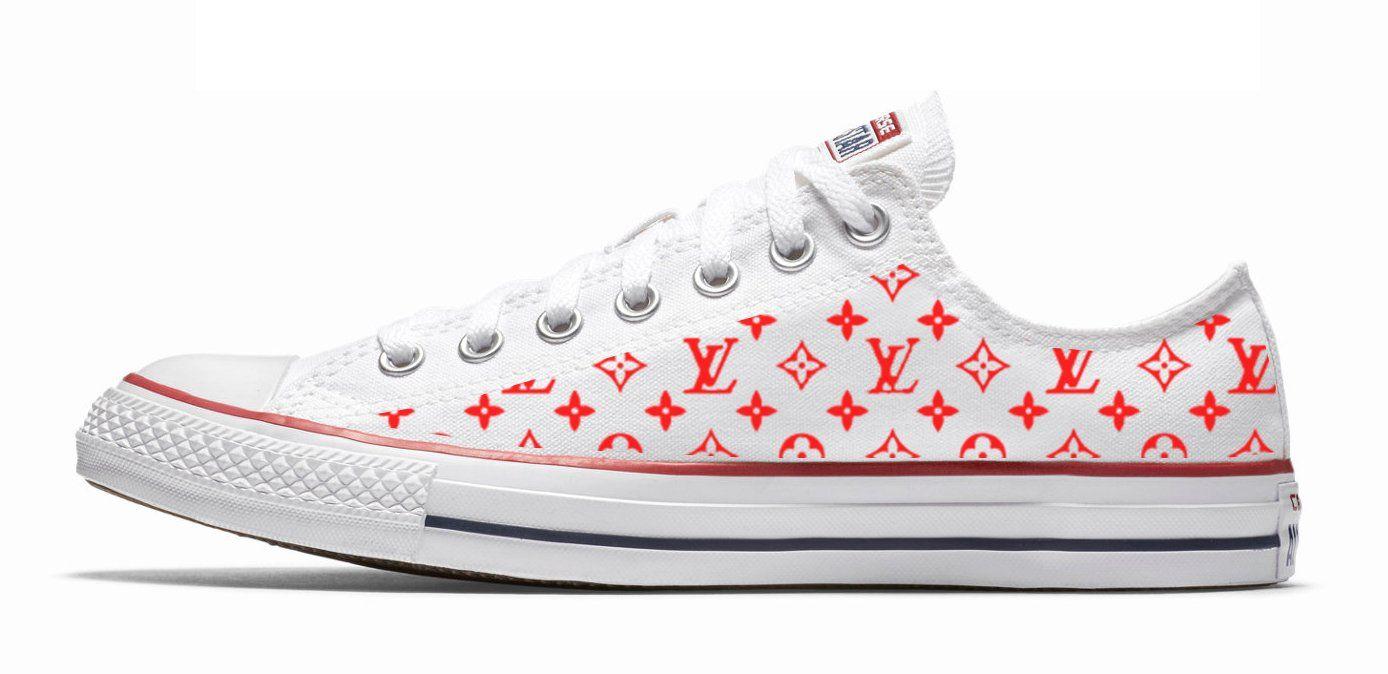 7e15e07d0f5f39 Customized Supreme LV Converse Sneakers