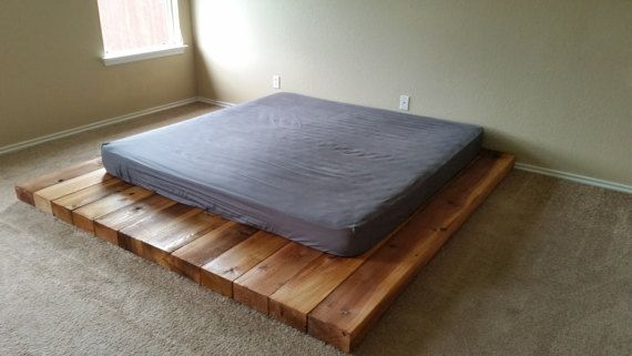 The Low Wooden Platform Bed Would Be Ideal For Use Within An Attic Or Loft Space Where Ceiling Heig Low Wooden Bed Frame Wooden Platform Bed Bedroom Bed Design