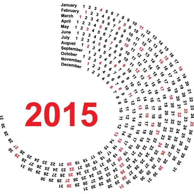 Creative Vector  Calendar Template  Free Vector Art