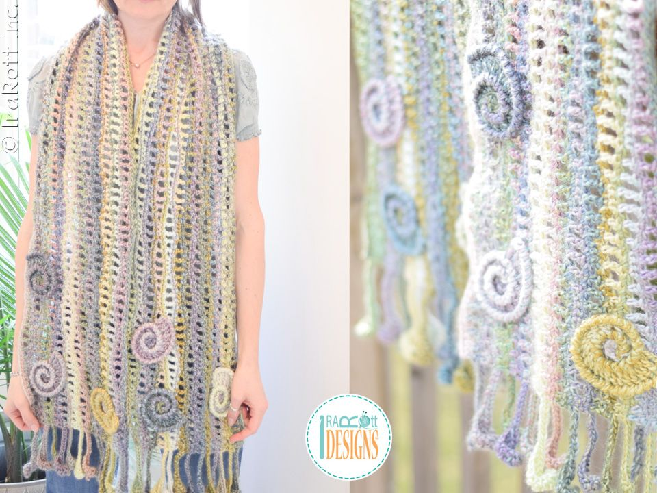 Free crochet pattern PDF by IraRott for making a beautiful wavy ...