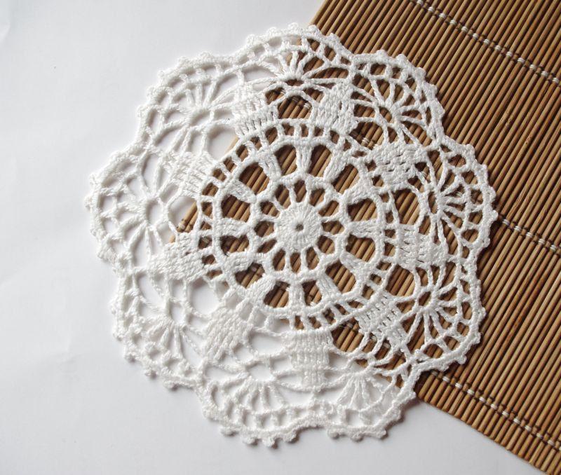 Crochet doily Small white lace doilies Linen crocheted doilies Lace ...