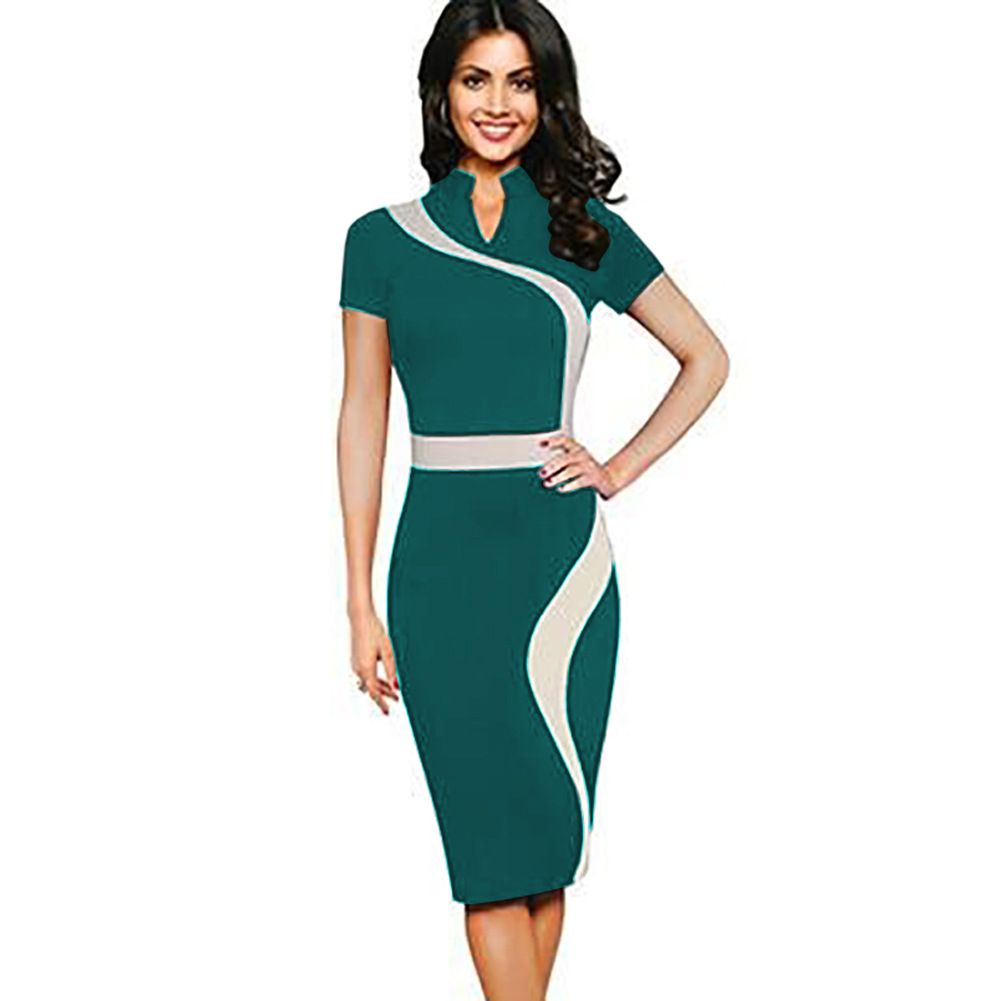 Fashion Women\'s Vintage Stand Collar Cheongsam Patchwork Elastic ...