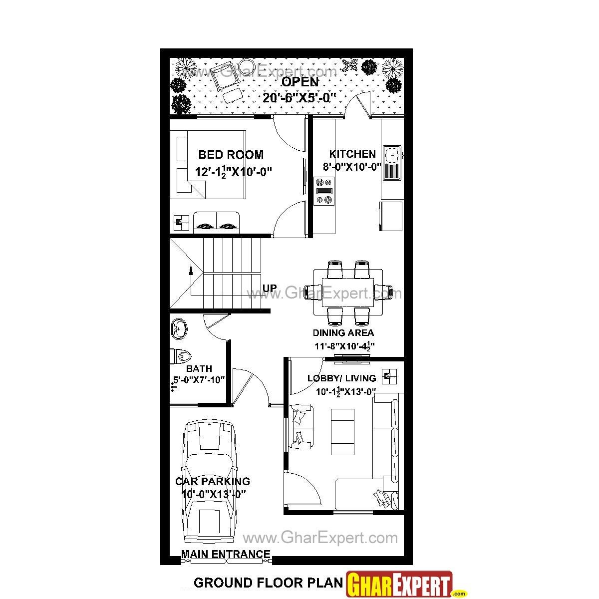 20 X 40 House Plans 800 Square Feet Luxury House Plan For 22 Feet By Luxury House Plans House Map 20x40 House Plans