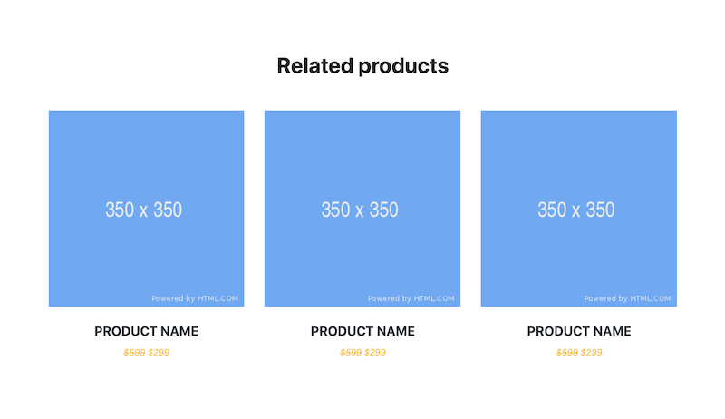 Bootstrap 4 Snippet Related Products Grid E Commerce Example Page Ecommerce Grid Commerce