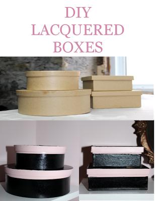 Online Interior Design: DIY lacquered Boxes