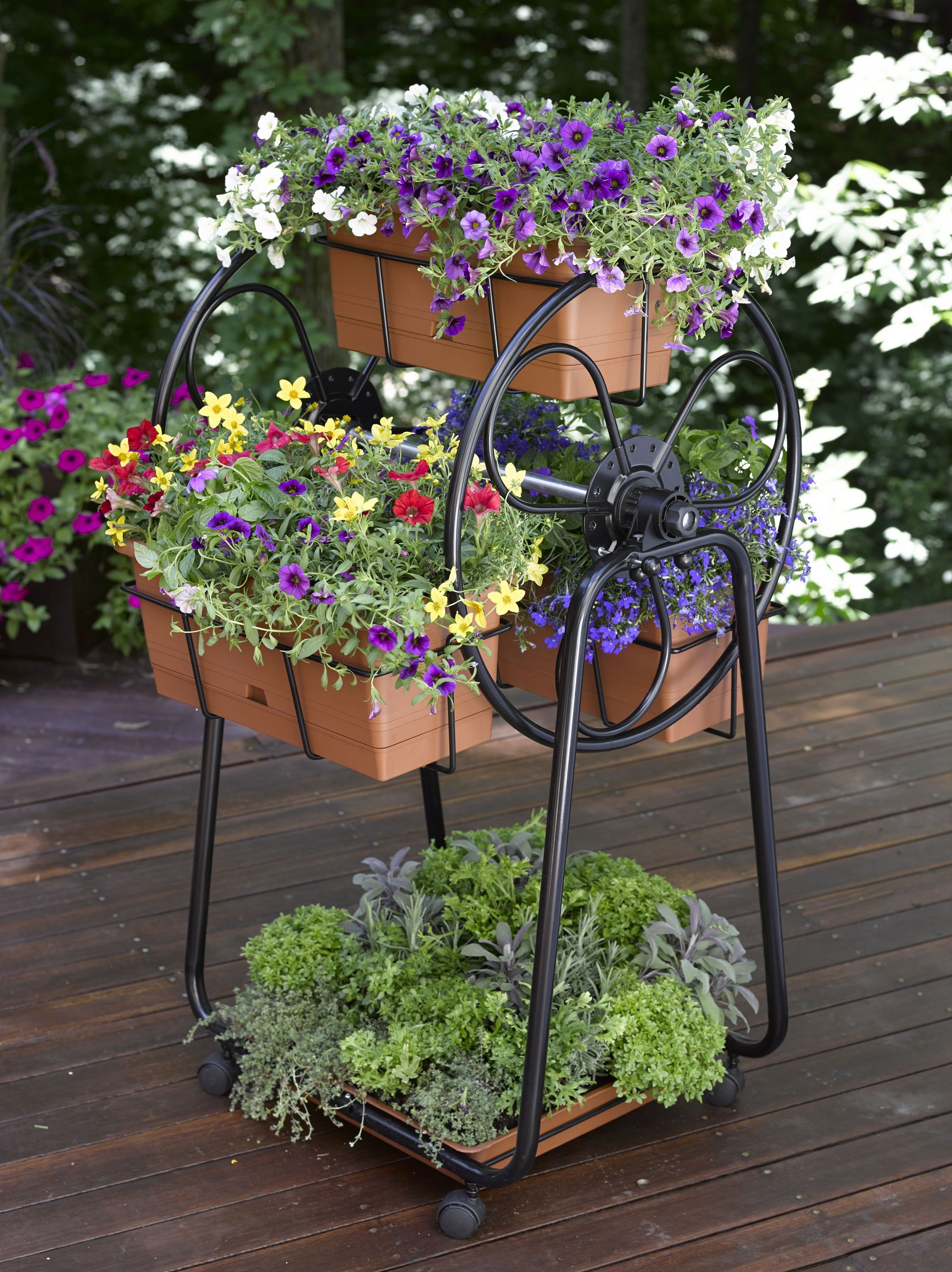 decorative planters: ferris wheel planter | gardener's supply