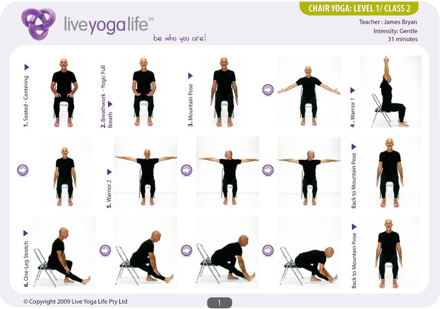 Wonderbaar Yoga with a Chair Level 1 – Class 2 | Live Yoga Life (With images HH-16