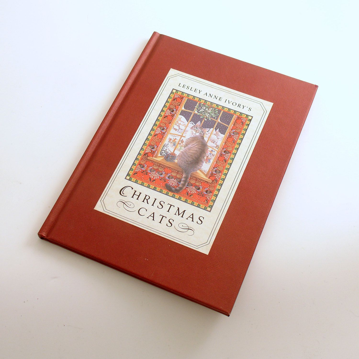 Vintage Book, Christmas Cats, Lesley Anne Ivory by efinegifts on Etsy