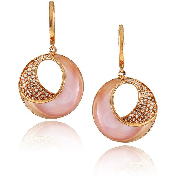 Frederic Sage Medium Pink Mother-of-Pearl & Diamond Venus Earrings CicSq9gQTq