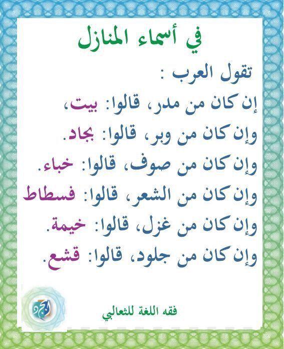 Pin By اترك اثرأ قبل الرحيل On اللغة العربية الأدب الشعر والحكمة Learn Arabic Language Words Quotes Arabic Language