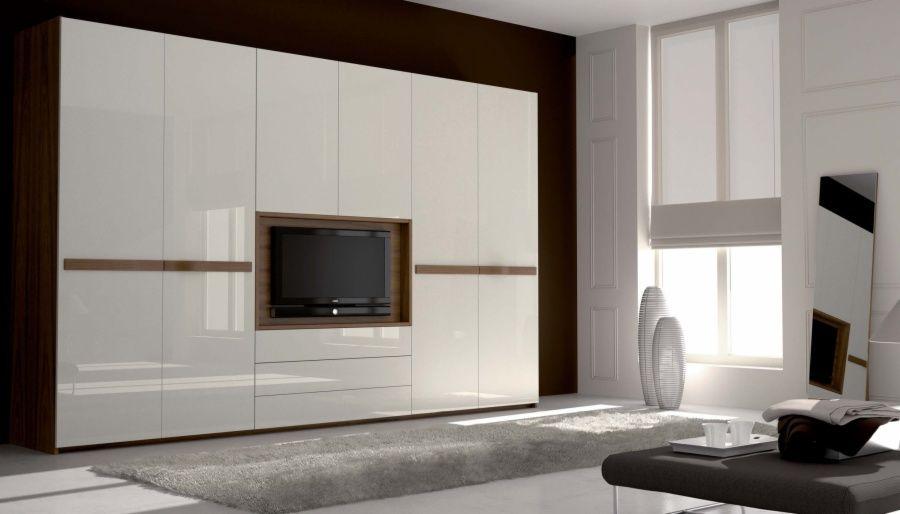 Resultado de imagen para armarios con hueco para televisor for Armario de pared con entrada equipada