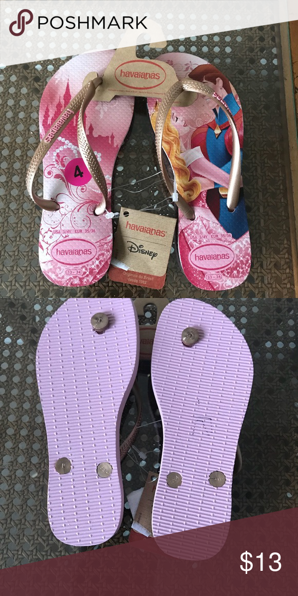 622b88eb2c2 NWT Disney Havaianas Princess Flip Flops size 4 NWT!!! Girls Disney  Havaianas Princess Flip Flops size 4 Havaianas Shoes Sandals   Flip Flops