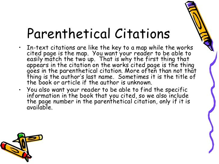 Parenthetical Citation Ul Li In Text Are Like The Key To A Map While Work Cited P Mla English Writing Skills Parenthtical Notation Paraphrasing
