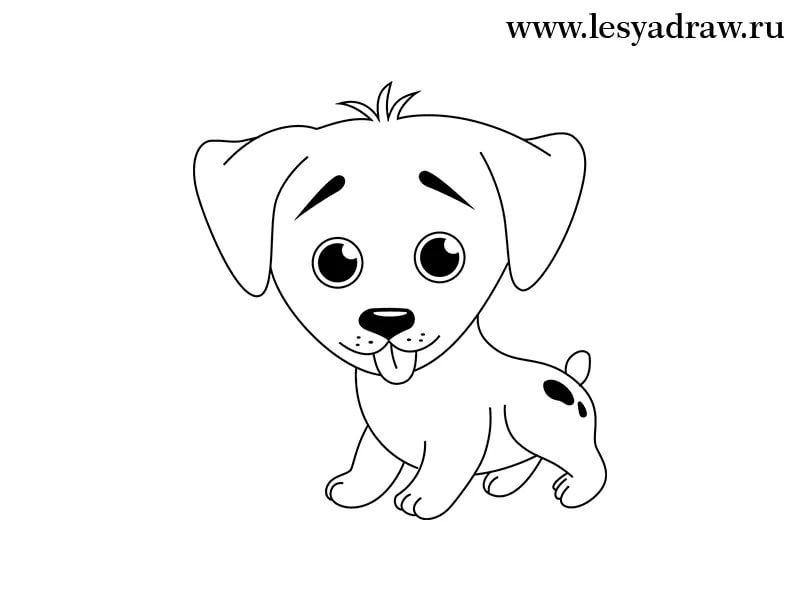картинки собак рисовать легко приятным открытием стало