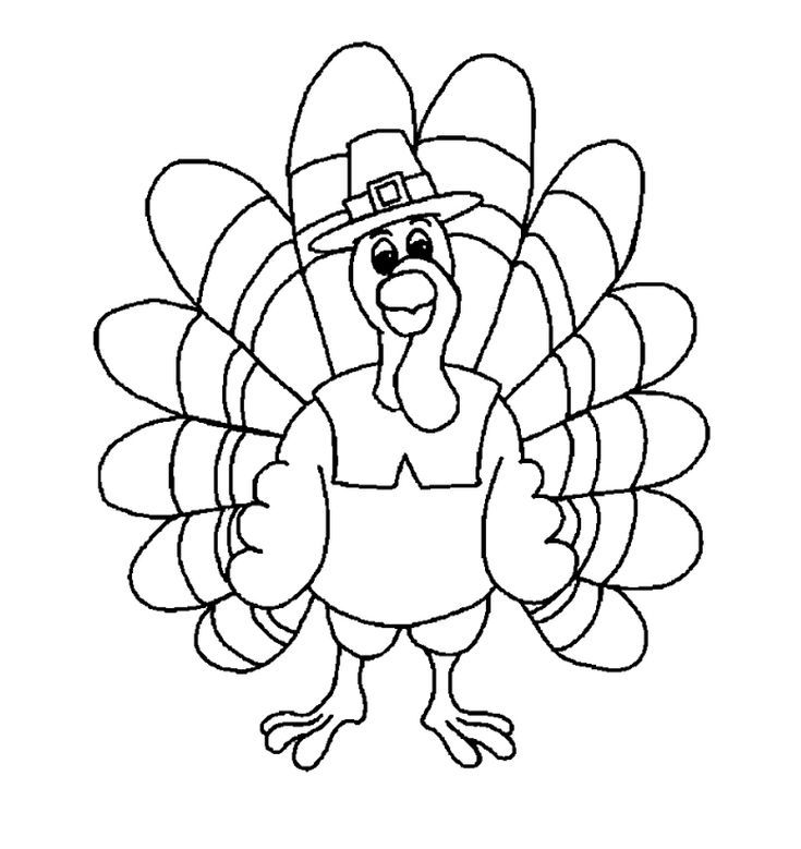 Turkey Coloring Pages For Preschoolers Trend