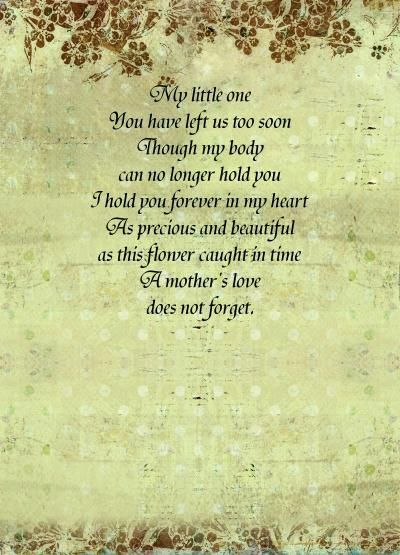 Miscarriage Poems Forget Me Not By Kimberly McIntyre New Loss Of A Loved One Quote