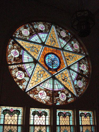 Very cool!!! Pentacle Window by c shultz, via Flickr