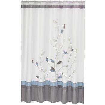 Home Classics Alana Fabric Shower Curtain Fabric Shower Curtains