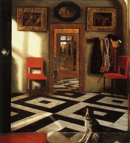 Boîte d\u0027optique avec des vues intérieures d\u0027une maison néerlandaise - Peindre Fenetre Bois Interieur
