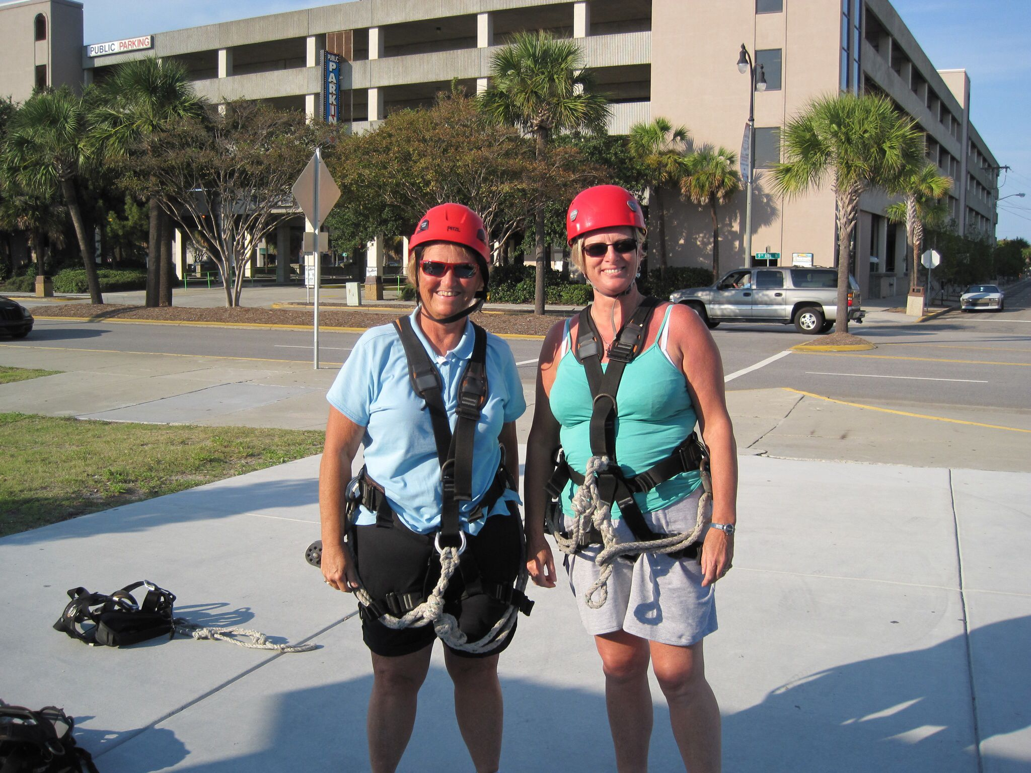 Ready for the zip line! Great fun Myrtle beach trip