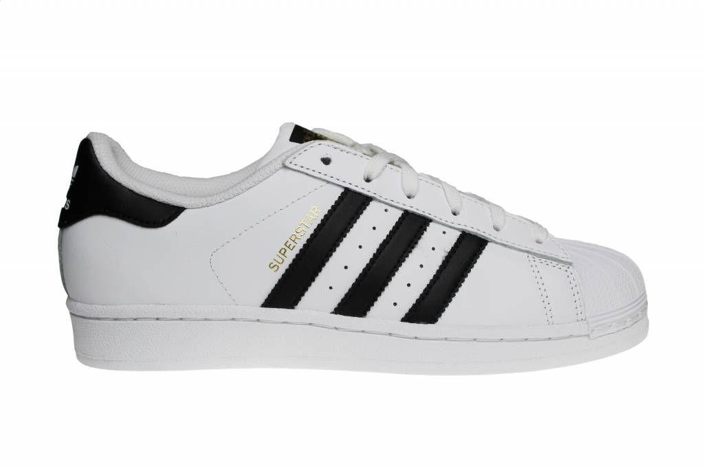 Adidas Superstar Wit/Zwart/Goud (Dames/Meisjes) | Adidas ...