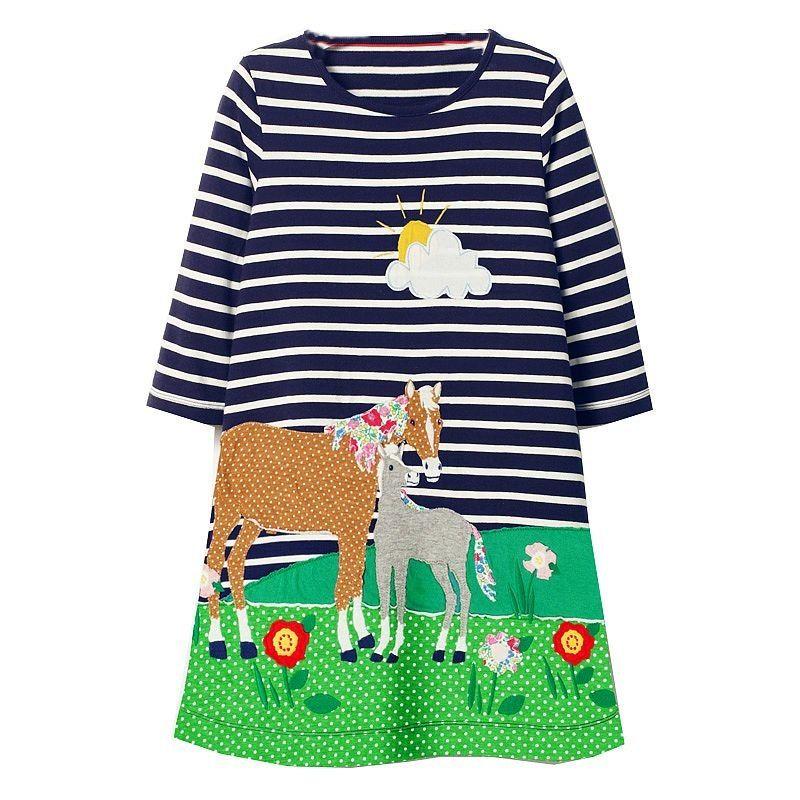 Langarm-Kleid für Mädchen   Kinder kleider, Mädchen ...