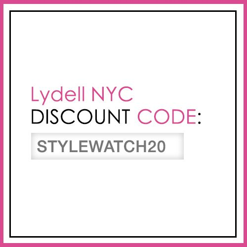 "From March 18 to April 15, enter ""STYLEWATCH20"" at checkout for a 20% site-wide discount. #StyleHunters"