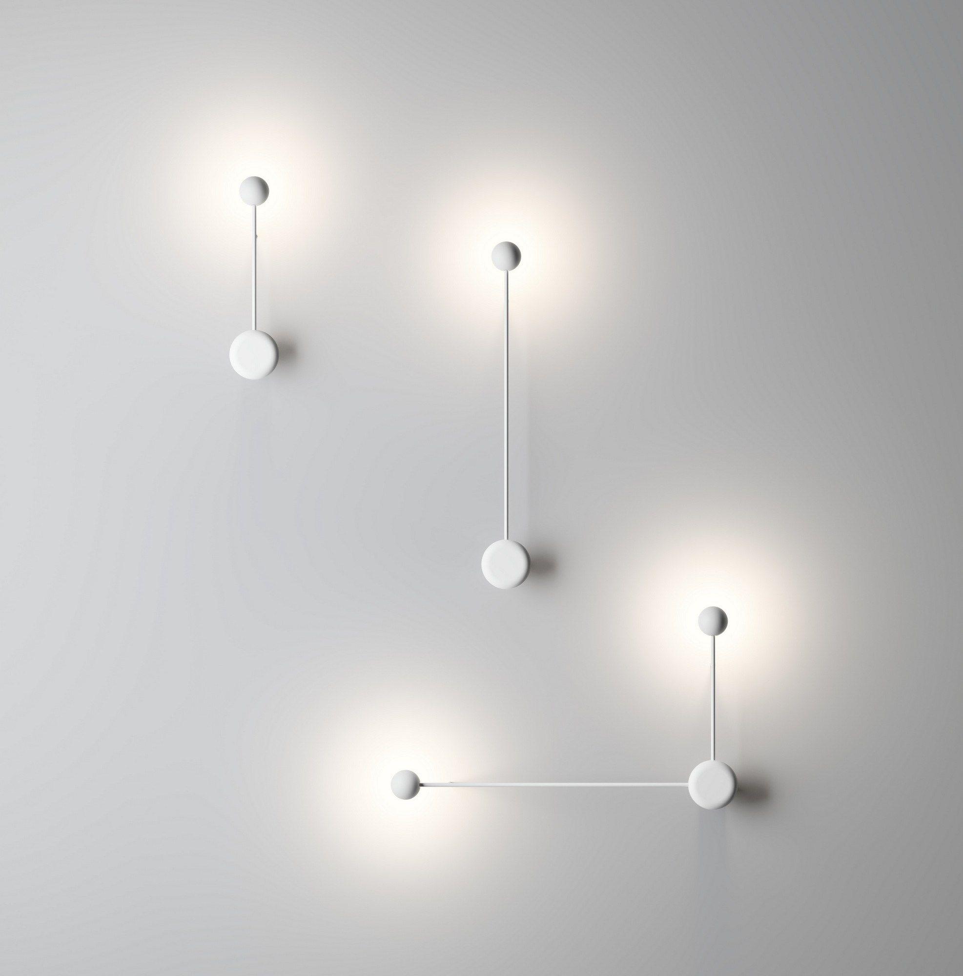 Lampada da parete a led orientabile collezione pin by vibia design ichiro iwasaki lights - Lampada parete design ...