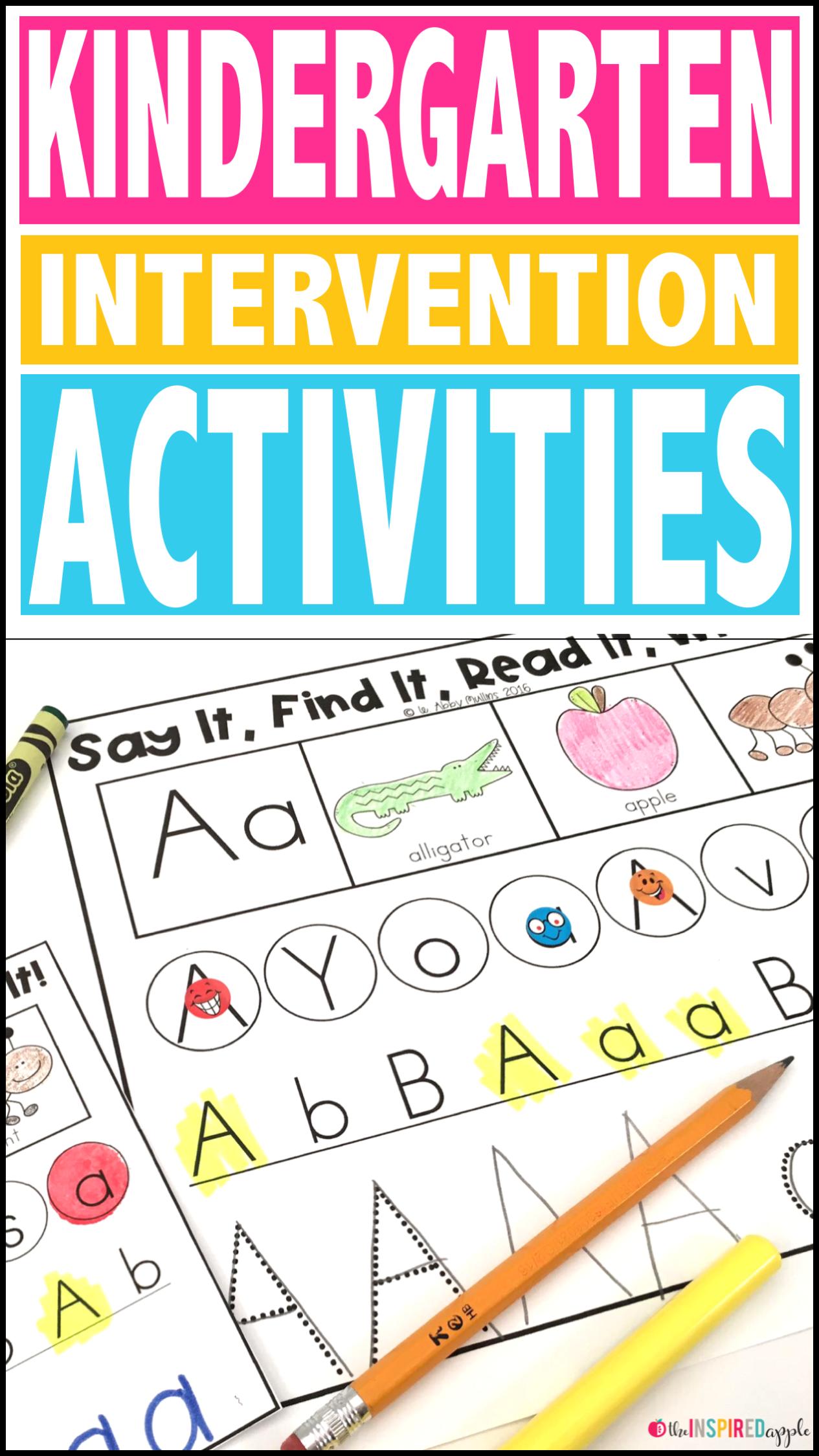 Kindergarten Intervention