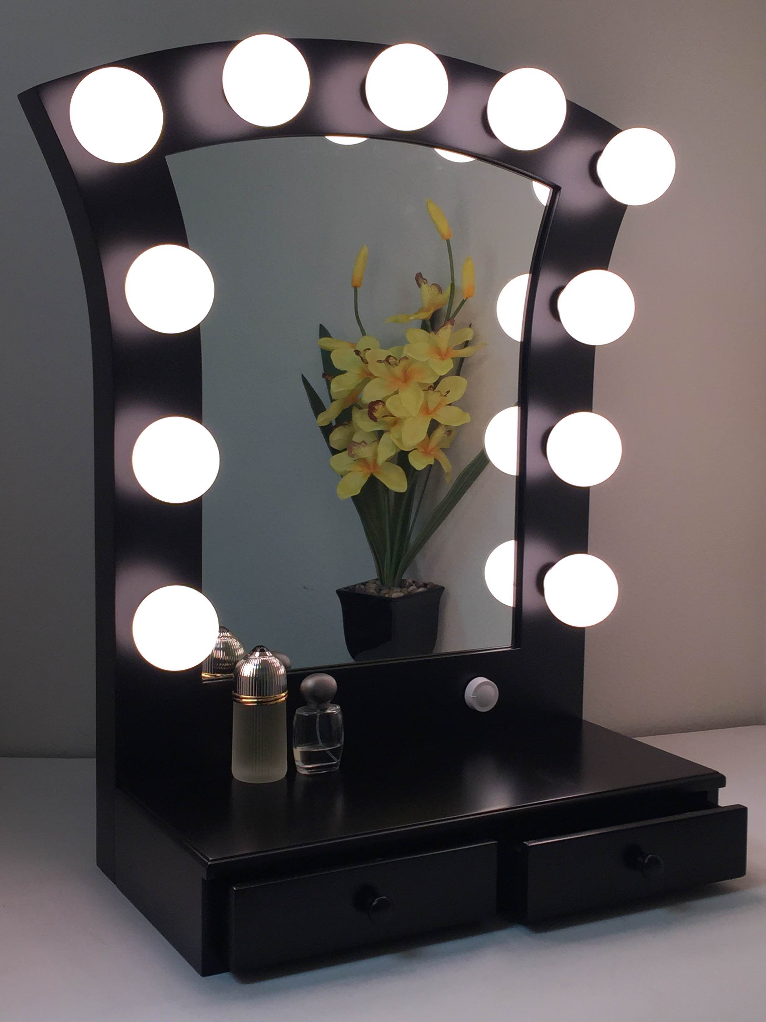 makeup hollywood side lights ideas beautiful of lamp diy led vanity mirror with accessories alluring