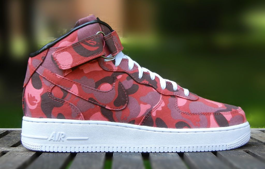 A throwback to the print that ran street fashion in the JBF Customs' Jake  Ferrato has treated the Nike Air Force 1 to a BAPE makeover.