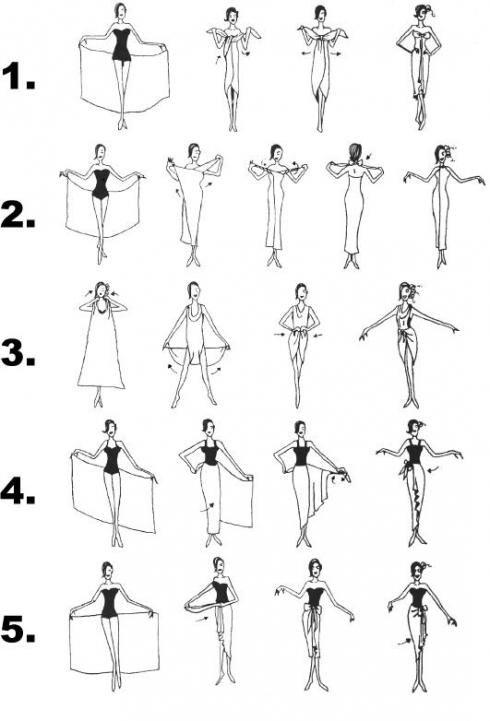 come indossare il pareo  uno schema e qualche utile