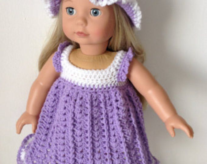 Crochet pattern for princess dress and crown for 18 inch doll ...