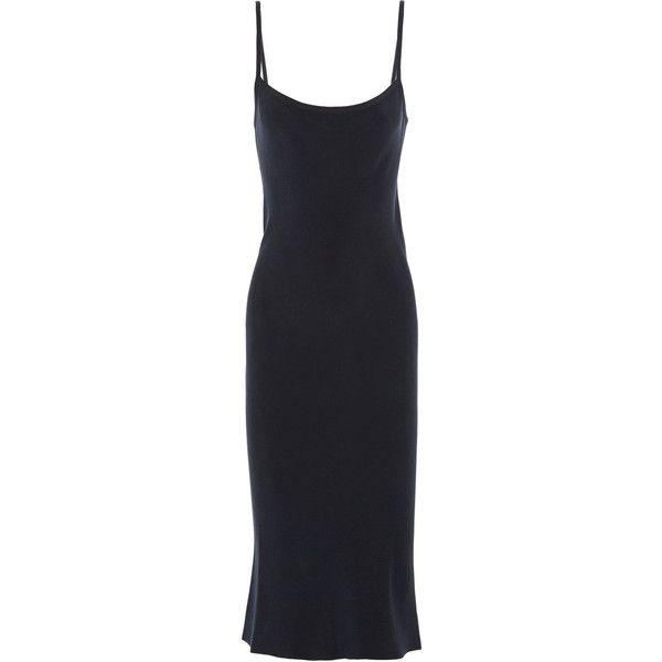 0b75c2fcfbda Joseph Washed-silk slip dress ($222) ❤ liked on Polyvore featuring dresses,  midnight blue, joseph dress, slim fit dress, silk slip dress, slimming  dresses ...