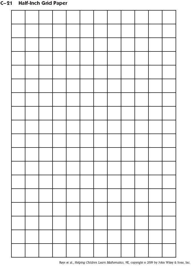 Half+Inch+Grid+Paper+Printable school ideas Pinterest Math - half inch graph paper template