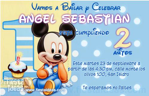 Personaliza La Nueva Invitación Baby Mickey Mouse Disney