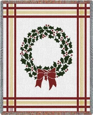 Christmas Wreath (Tapestry Throw)
