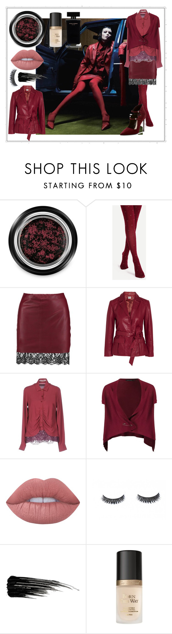 """Red for New Year"" by alexei-puha on Polyvore featuring Giorgio Armani, Boohoo, Ganni, Frankie Morello, Gloria Coelho, Lime Crime, Narciso Rodriguez, Urban Decay, Too Faced Cosmetics and Christian Dior"