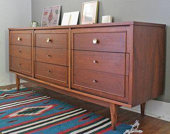 Nine Drawer Mid Century Modern Dresser