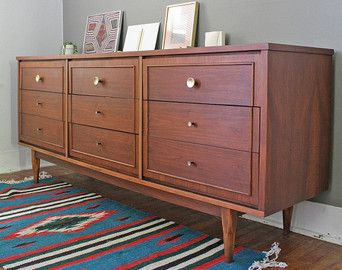 Unique Mid-Century Modern Dresser with Vanity by Drexel 1