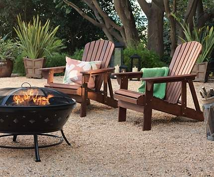 Superb The Perfect Match   Adirondack Chairs In A Garden Around A Steel Firepit.