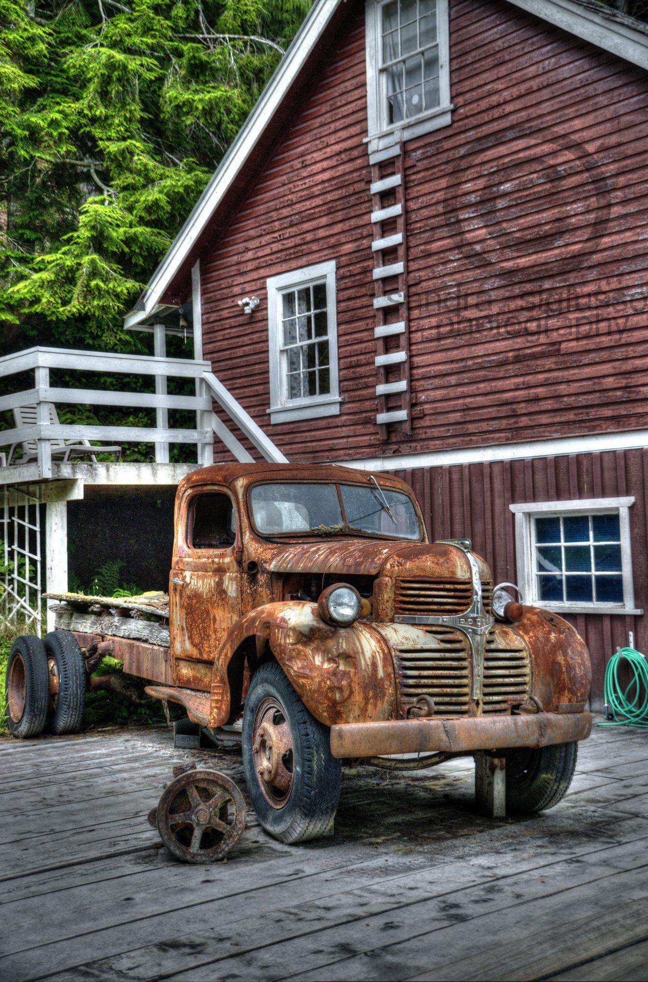 Old Dodge Truck Telegraph Cove Vancouver Island Bc Canada